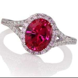 Stauer Lab Created Red Diamond Ring  💍